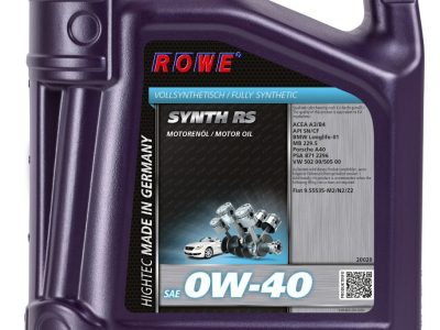 ROWE Моторное масло Hightec Synth RS SAE 0w40 5л Full-synthetic