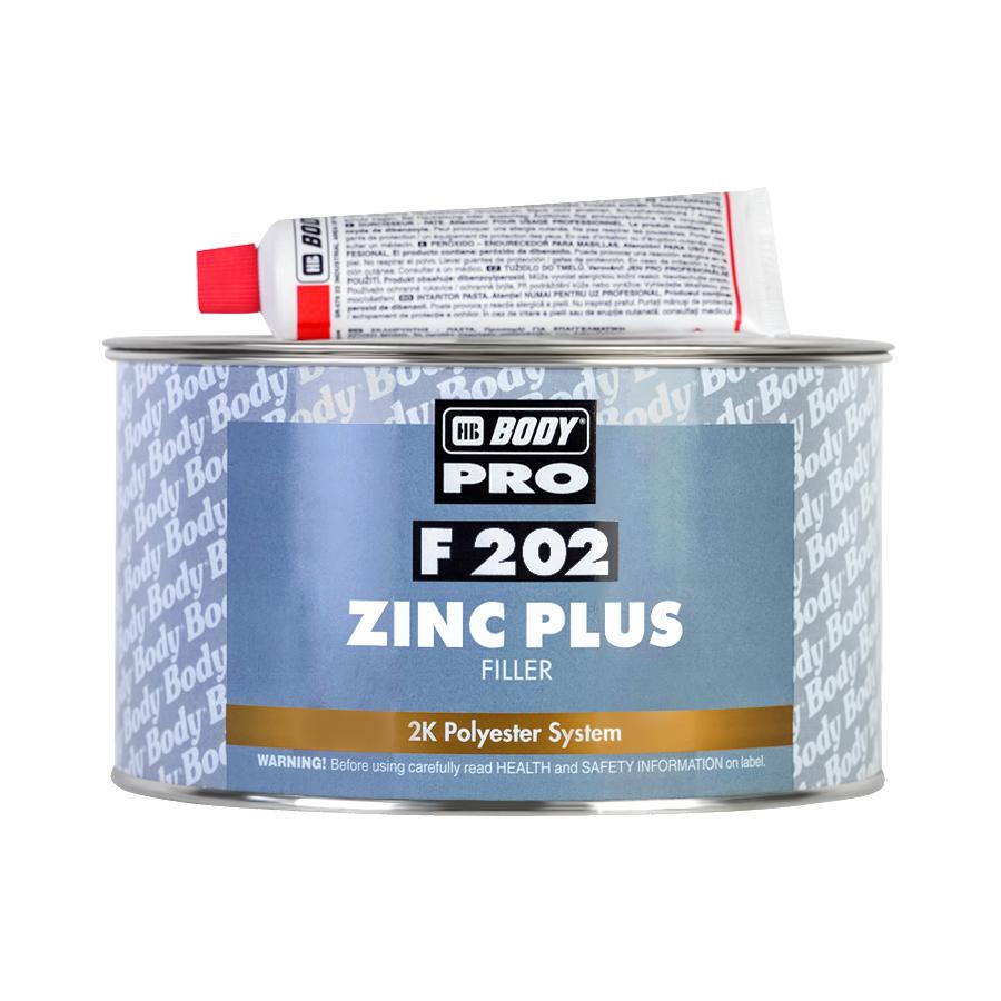 HB BODY PRO Шпатлевка F202 Zinc Plus бежевая 1,8 кг + отвердитель 0,04 гр