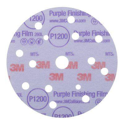 3M Круг абразивный полировальный 260L Purple 15 отверстий 150 мм, Р1200