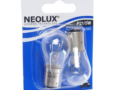 NEOLUX Лампа автомобильная P21/5W 12V 21/5W в блистере, 2 шт.