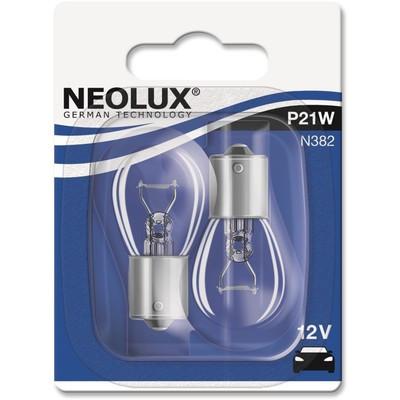 NEOLUX Лампа автомобильная P21W 12V 21W в блистере, 2 шт.