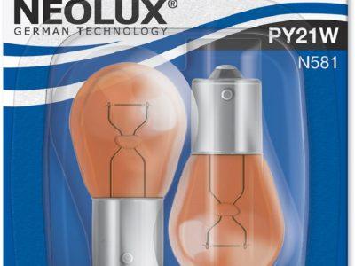 NEOLUX Лампа автомобильная PY21W 12V 21W в блистере, 2 шт.