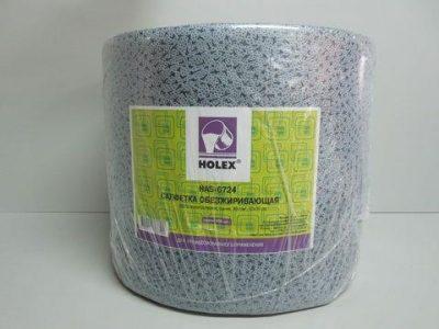 HOLEX Салфетка обезжиривающая 100% полипропиленовая, синяя, 80г/м2, 30 х 38см (рулон 500шт)