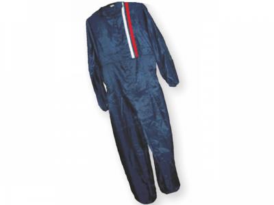 РУССКИЙ МАСТЕР Комбинезон защитный многоразовый синий с красно-белыми полосами размер XL