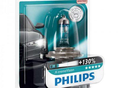 PHILIPS Лампа автомобильная галогенная H4 12V 60/55W X-treme Vision +130% света в блистере