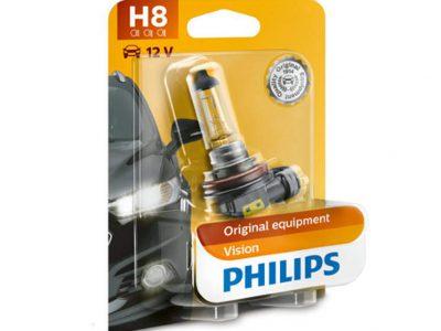 PHILIPS Лампа автомобильная галогенная H8 12V 35W Vision в блистере, 1 шт.