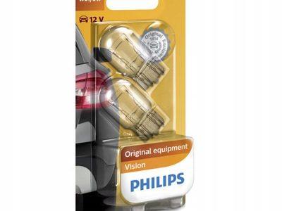 PHILIPS Лампа автомобильная галогенная W21/5W 12V 21/5W Vision в блистере, 2 шт.