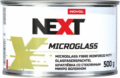 NOVOL NEXT Шпатлевка со стекловолокном Microglass, 0,5 кг + отвердитель 0,015гр