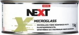 NOVOL NEXT Шпатлевка со стекловолокном Microglass, 1,0 кг + отвердитель 0,025гр
