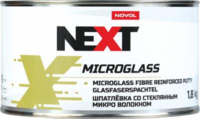 NOVOL NEXT Шпатлевка со стекловолокном Microglass, 1,8 кг + отвердитель 0,05гр
