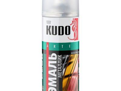 KUDO Краска спрей металлик 682 Гранта, 520мл