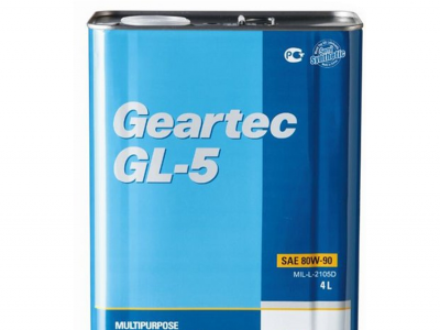 KIXX Трансмиссионное масло МКПП Geartec GL-5 SAE 75w90 4л Seml-synthetic