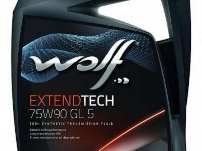 WOLF Трансмиссионное масло МКПП ExtendTech SAE 75w90 4л Semi-synthetic