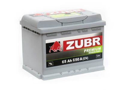ZUBR Аккумуляторная батарея автомобильная Premium 65 A/h прямая полярность