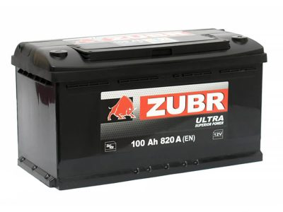ZUBR Аккумуляторная батарея автомобильная Ultra 100 A/h прямая полярность