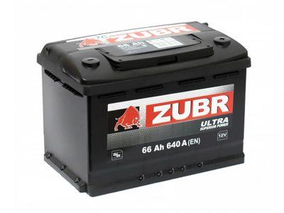 ZUBR Аккумуляторная батарея автомобильная Ultra  66 A/h прямая полярность
