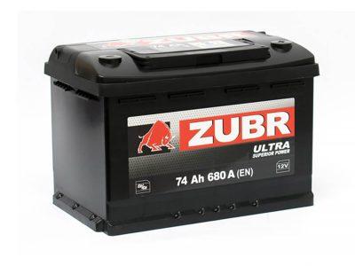 ZUBR Аккумуляторная батарея автомобильная Ultra  74 A/h прямая полярность