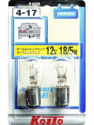 KOITO Лампа дополнительного освещения 12V 18/5W в блистере, 2 шт.