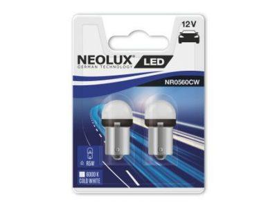 NEOLUX Лампа автомобильная R5W 12V LED 0.8W 6000K в блистере, 2 шт.