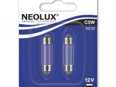 NEOLUX Лампа автомобильная C5W 12V 5W в блистере, 2 шт.
