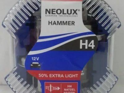 NEOLUX Лампа автомобильная H4 12V 60/55W Extra Light +50% света DuoBox, 2 шт.