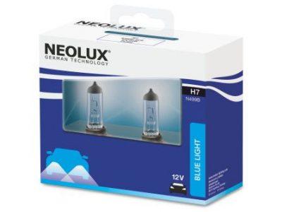 NEOLUX Лампа автомобильная H7 12V 55W Blue Light белый свет, голубой оттенок, 2 шт