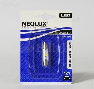 NEOLUX Лампа автомобильная Fest T10.5 12V LED 0.50W 6000K в блистере, 1 шт.