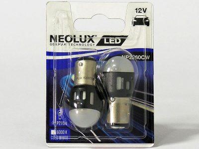 NEOLUX Лампа автомобильная P21/5W 12V LED 1.2W 6000K в блистере, 2 шт.