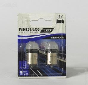 NEOLUX Лампа автомобильная R10W 12V LED 1.2W 6000K в блистере, 2 шт.