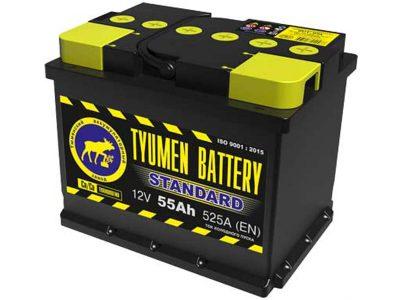 TYUMEN BATTERY Аккумуляторная батарея автомобильная 55 A/h прямая полярность