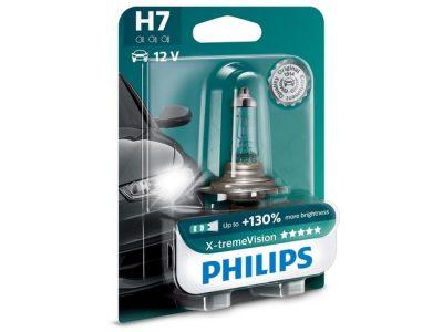 PHILIPS Лампа автомобильная галогенная H7 12V 55W X-tremeVision +130% света в блистере, 1 шт.