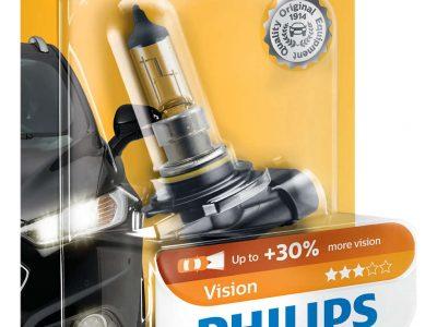PHILIPS Лампа автомобильная галогенная HB4 12V 55W Vision+ 30% света в блистере, 1 шт.