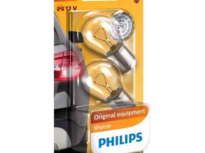 PHILIPS Лампа автомобильная галогенная P21W 12V 21W Standard в блистере, 2 шт.