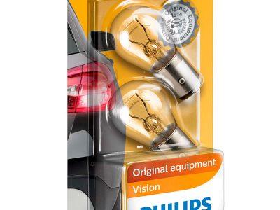 PHILIPS Лампа автомобильная галогенная P21/4W 12V 21/4W Standard в блистере, 2 шт.