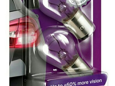 PHILIPS Лампа автомобильная галогенная P21/5W 12V 21/5W VisionPlus +60% света в блистере, 2 шт.