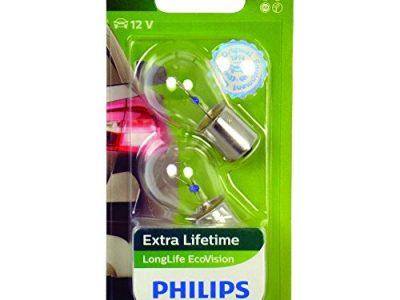 PHILIPS Лампа автомобильная галогенная P21W 12V 21W LongLife EcoVision в блистере, 2 шт.