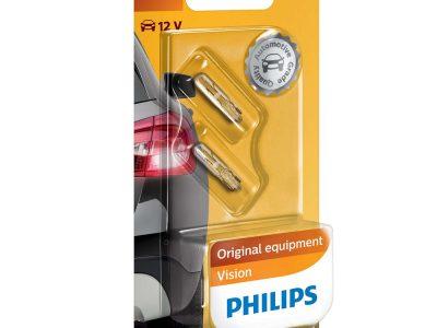PHILIPS Лампа автомобильная галогенная W1,2W 12V 1.12W Vision в блистере, 2 шт.