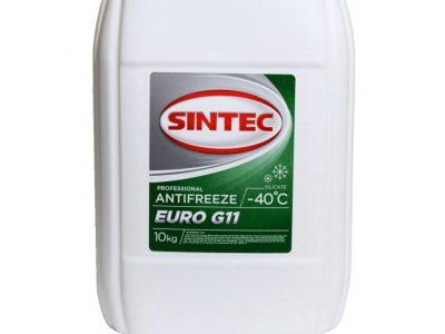 SINTEC Антифриз euro G11 зелёный 10л