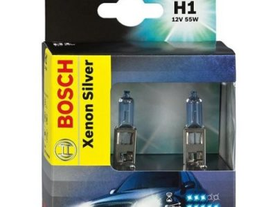 BOSCH Лампа автомобильная галогенная H1 12V 55W Xenon Silver в блистере, 2 шт.