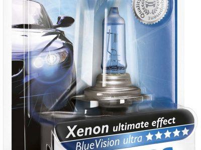 PHILIPS Лампа автомобильная галогенная  H7 12V 55W PX26d Blue Vision Ultra, в блистере, 1 шт.