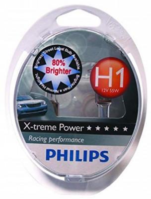 PHILIPS Лампа автомобильная галогенная H1x2 12V 55W X-Treme +80% света в блистере, 2 шт.