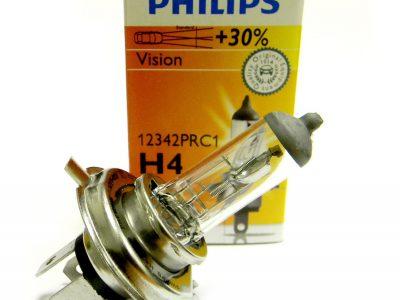PHILIPS Лампа автомобильная галогенная H4 12V 60/55W Premium Vision +30% света, 1 шт.