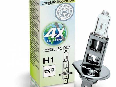PHILIPS Лампа автомобильная галогенная H1 12V 55W LongLife EcoVision, 1 шт.