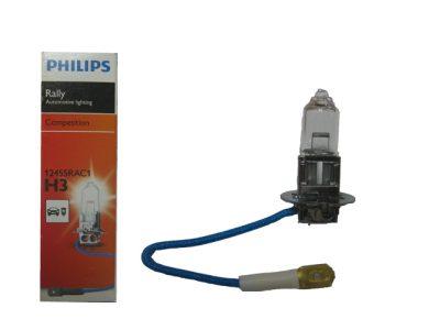 PHILIPS Лампа автомобильная галогенная H3 12V 100W PK22s Rally, 1 шт.