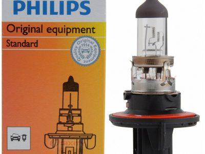 PHILIPS Лампа автомобильная галогенная H13 12V 60/55W P26.4t Standard, 1 шт.
