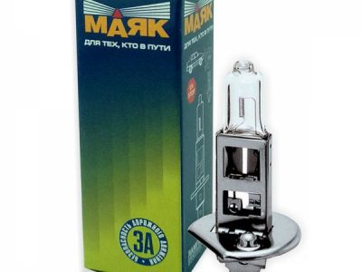 МАЯК Лампа автомобильная галогенная H1 12V 55W P14.5s в блистере, 1 шт.