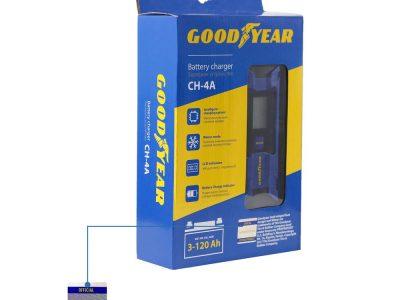 GOODYEAR Устройство зарядное электронное для свинцово-кислотных аккумуляторов 3-120А заряд 4А