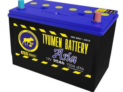 TYUMEN BATTERY Аккумуляторная батарея автомобильная 95 A/h прямая полярность Asia