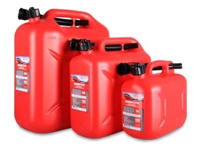 3TON Канистра для топлива в комплекте с крышкой и лейкой 10л