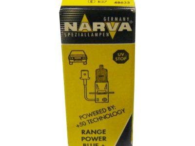 NARVA Лампа автомобильная галогенная H3 55 PK22s+50% RANGE POWER 12V 1 10100
